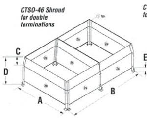 Direct Vent CTSO-46 Chase Top Shroud Kit For Double