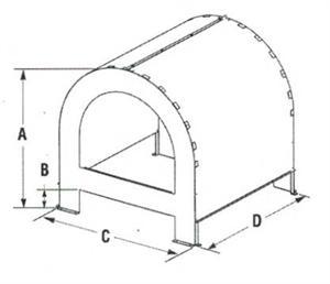 Direct Vent CTSA-33 Chase Top Shroud Kit Arch Top