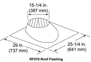 RF570 Roof Flashing Flat to 6/12 Pitch Hearth Home
