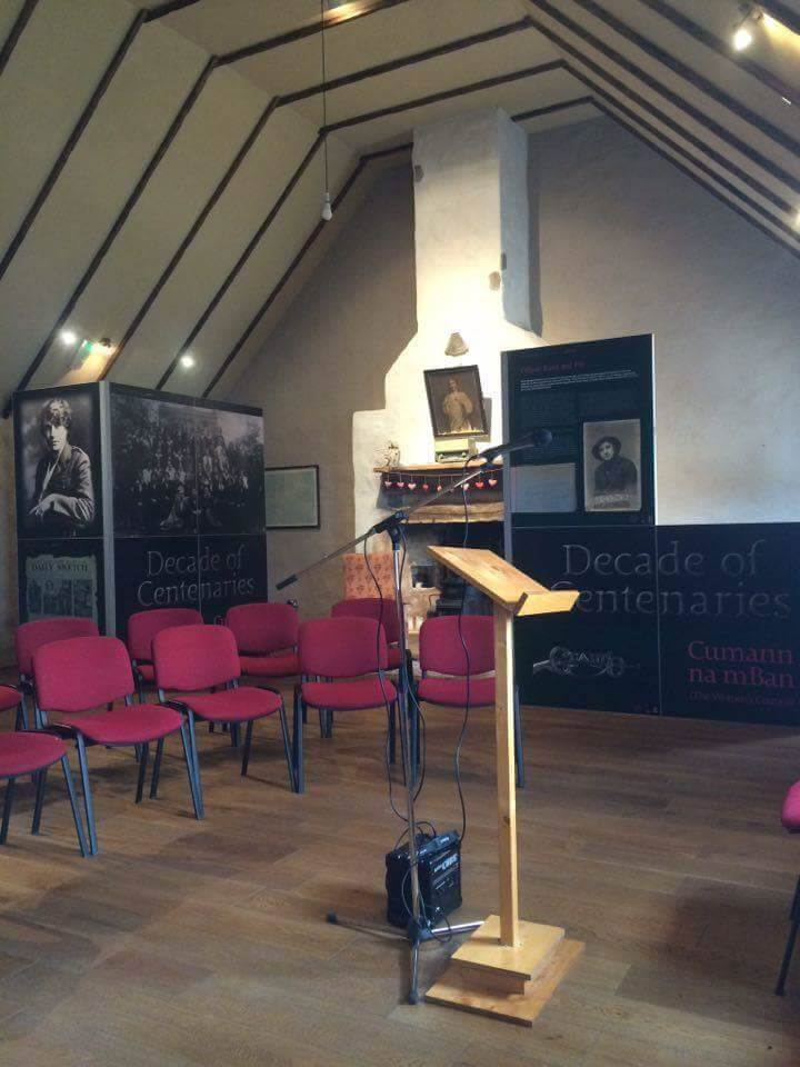 Cumann na mBan exhibition in The Thatched Cottage at Kilmovee Community Centre
