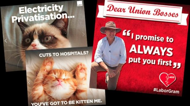Memes from the NSW election campaign.