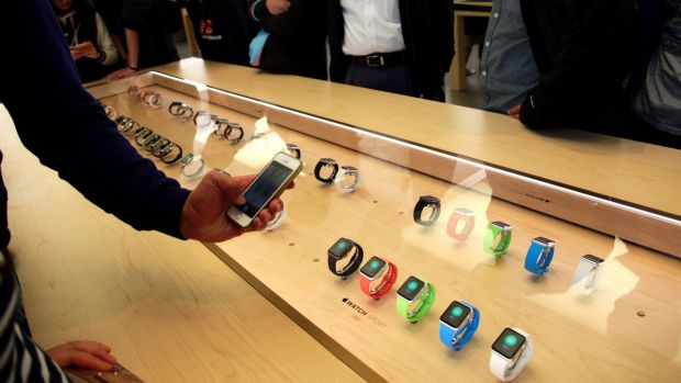 Sales of the company's new Apple Watch are expected to pick up strongly.
