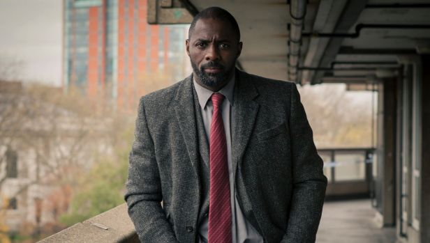 Idris Elba as detective John Luther on BBC drama Luther, which saw him win a Golden Globe for best actor.