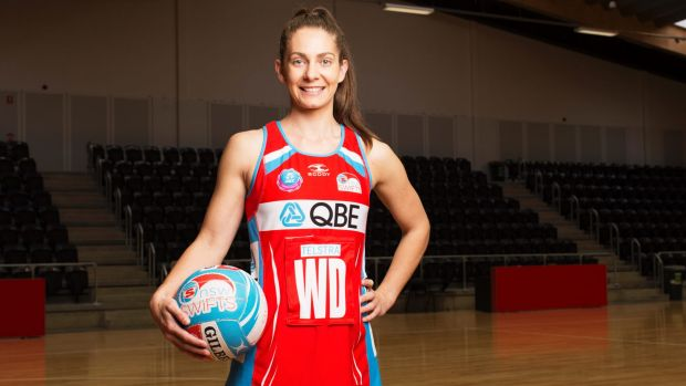 Blue through and through: Swifts defender Abbey McCulloch.