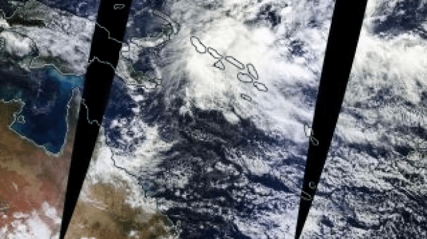 Deep low over the Solomon Islands may develop into a cyclone.