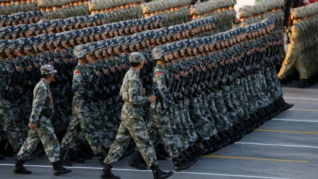 Image of China PLA marching