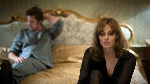 All at sea: Brad Pitt (left) and director Angelina Jolie Pitt fail to ignite the lifeless drama By The Sea.