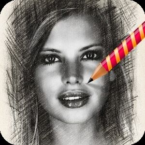 This app turns selfies into pencil sketches.