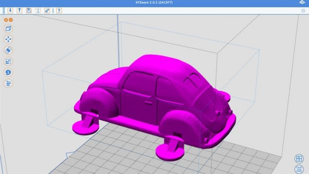 The Volkswagon Beetle design, downloaded from the XYZ gallery and loaded into XZYware.