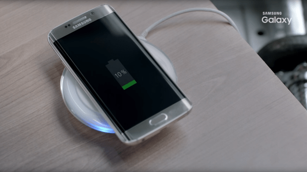 A screen grab from the video shows a wireless charger. Could the charger be included with the new phone?