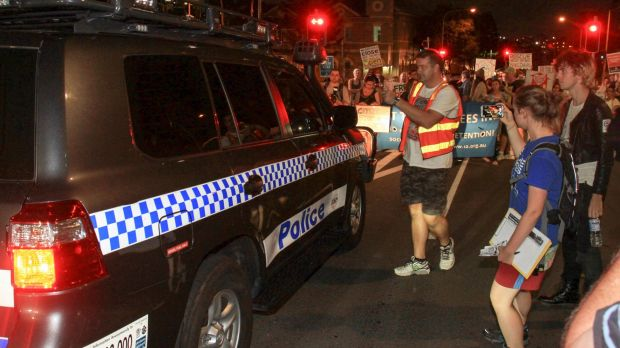 About 300 attended the vigil for baby Asha at the Lady Cilento Hospital on Saturday night.