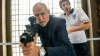 Grim indeed: Mark Strong and Sacha Baron Cohen in the repulsive comedy Grimsby.