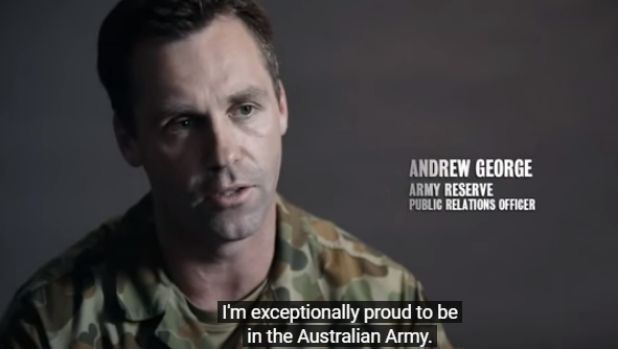 Andrew George, a former soldier who appeared in Army Reserve ads, claims tafenoquine left him with damaging side effects.