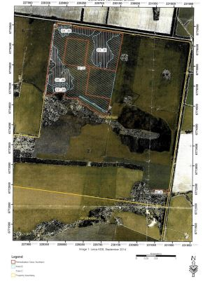 Shaded area shows illegally cleared land on a property owned by the son of Ian Turnbull, who murdered an environment officer.