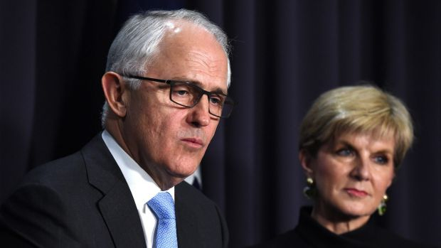 Prime Minister Malcolm Turnbull with Foreign Minister Julie Bishop.
