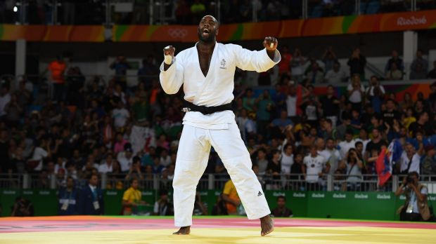 Teddy Bear: Frenchman Teddy Riner defended his 2012 London gold medal in judo.