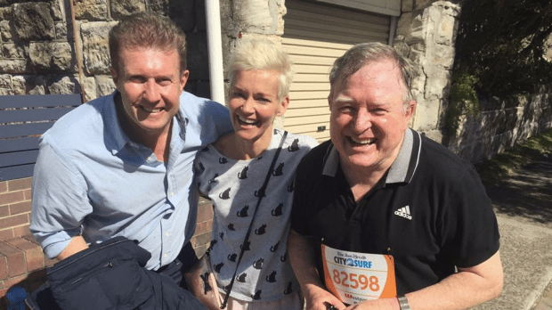 Peter Overton, Jessica Rowe and Peter Hitchener at City2Surf