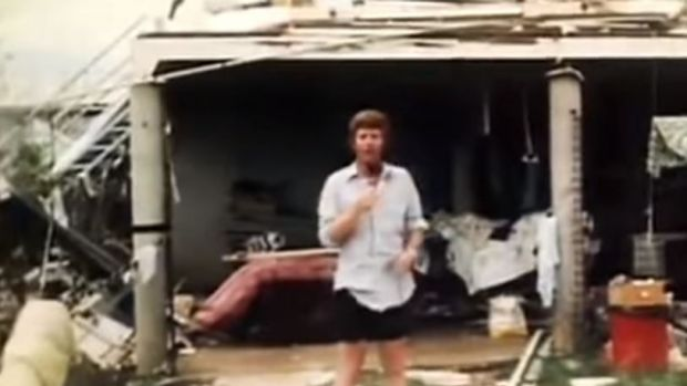 Mal Walden reporting on Cyclone Tracy from Darwin in 1974.