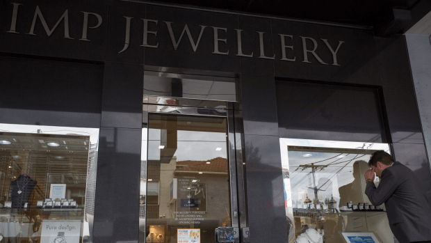 MELBOURNE, AUSTRALIA - OCTOBER 25: A general view of IMP Jewellery on Toorak Road in Toorak which was robbed by three armed bandits wearing balaclavas and hooded jumpers today on October 25, 2016 in Melbourne, Australia. (Photo by Stefan Postles/Fairfax Media)