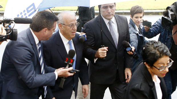 Eddie Obeid arriving at the Supreme Court to be sentenced on Thursday.