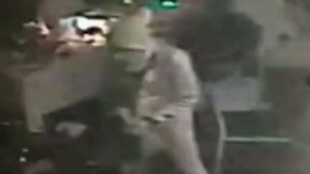 A framegrab on Sunday, January 1, 2017 of an attacker carrying a gun in the Reina nightclub in Istanbul. The gunman ...