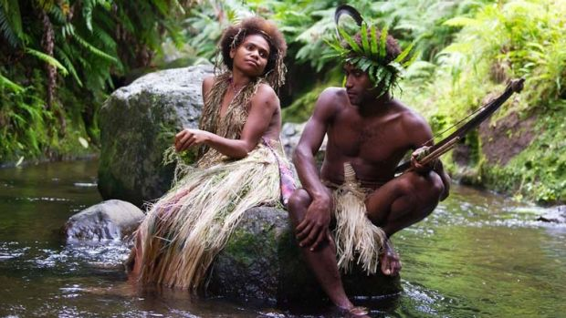 Lovers in trouble: Wawa  (Marie Wawa) and her beau Dain (Mungau Dain) enjoy a rare quiet moment in Tanna.