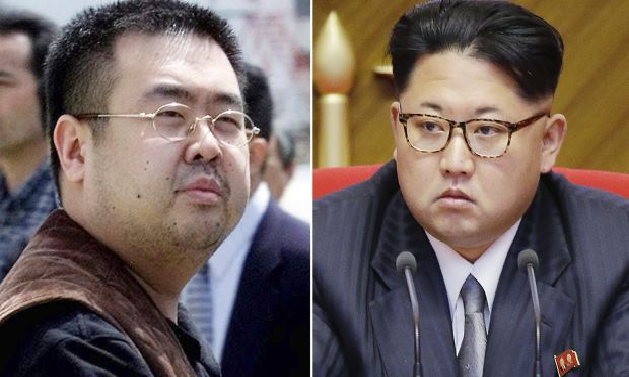 Kim Jong-nam, left, and his half-brother, North Korean dictator Kim Jong-un.