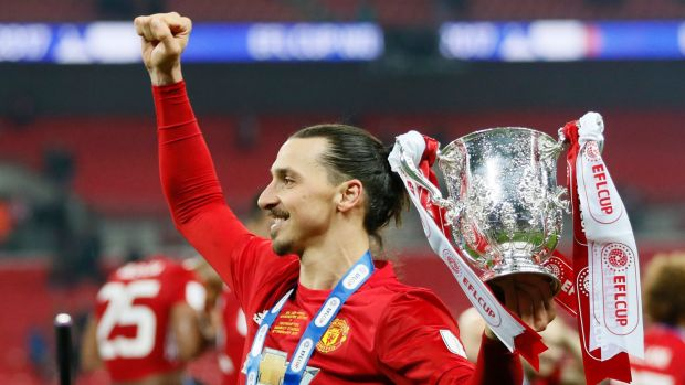 Image result for zlatan goal in efl cup