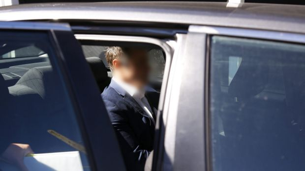 A Current Affair reporter Ben McCormack is arrested by police on Thursday.