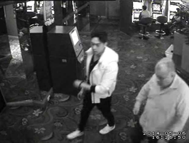 Jamie Gao and Glen McNamara cctv still