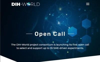 """Aperta la prima Open Call di """"DIH-World"""" a sostegno di esperimenti innovativi che impieghino tecnologie digitali per migliorare processi, prodotti, servizi delle PMI manifatturiere – Scadenza 15/07/2021"""