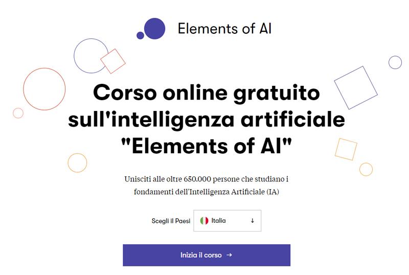 """Corso online gratuito sull'intelligenza artificiale """"Elements of AI"""""""