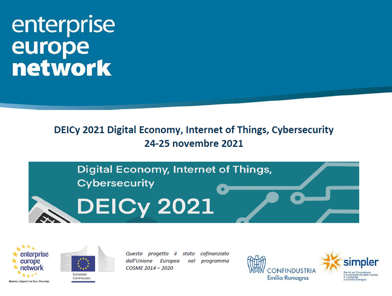 DEICy 2021 Digital Economy, Internet of Things, Cybersecurity – online 24-25 novembre 2021