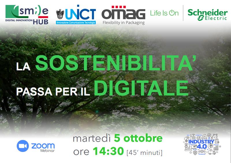 Webinar: La Sostenibilità passa per il Digitale – martedì 5 ottobre 2021, ore 14,30