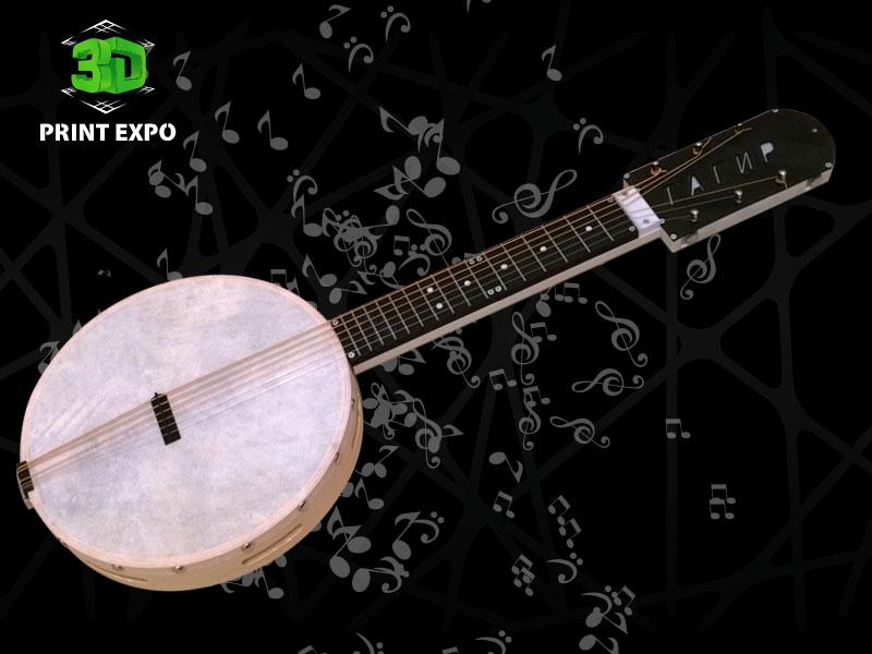 Банджо напечатанная на 3D-принтере