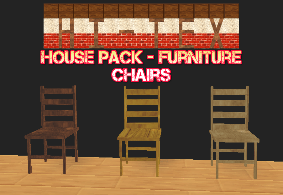 SMILE GAME BUILDER Hi-Tex House Pack - Furniture - Chairs
