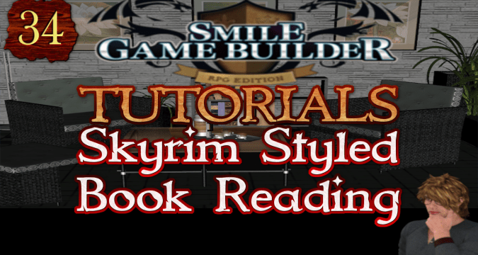 Smile Game Builder Tutorial 034: Skyrim Styled Book Reading