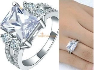 Engagement Ring Wholesale Silver-plated