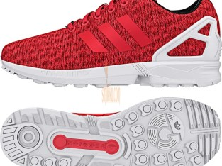 adidas zx flux shoes core black shock red white