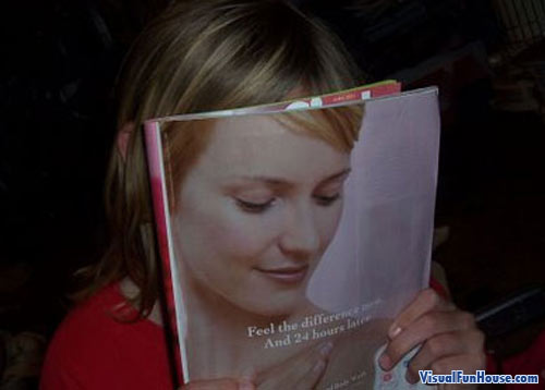 Awe such a pretty picture, they got the perfect shot of her in that magazine!