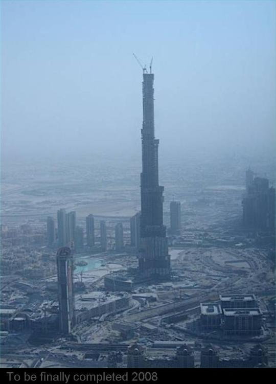 Burj Dubai....900 meters high