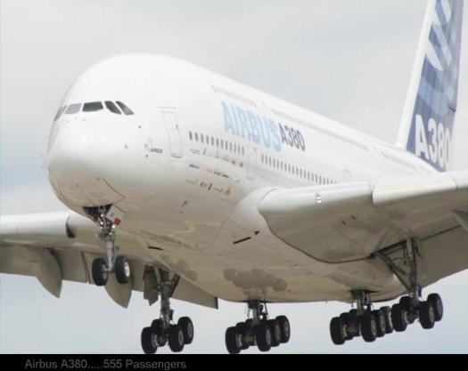 BIGGEST  PLANE .... Airbus A380.....555 Passengers