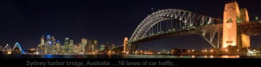 WIDEST   BRIDGE .. AUSTRALIA