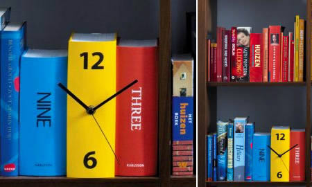 Table Book Clock