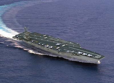 Gerald R. Ford Class Aircraft Carrier: 8.1 billion USD