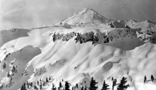 1140 inch of snow fell on Mount Baker.