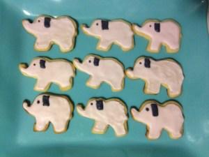 Lil Elephant Sugar Cookies - 12