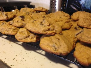 Pumpkin Chocolate Chip Cookies - 16