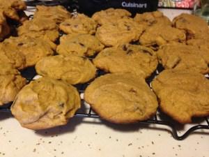 Pumpkin Chocolate Chip Cookies - 15
