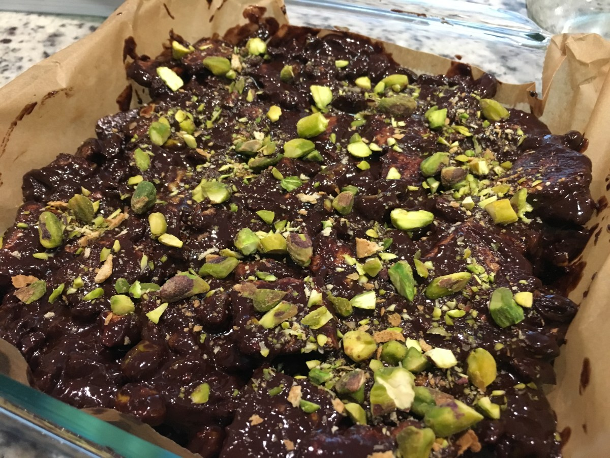 Mint Chocolate Pistachio Fridge Cake
